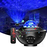 Anpreme Star Projector Galaxy Light Projector Night Light Projector with Music Speaker for Kids Adults Ceiling Bedroom/Game Rooms/Home Theatre/Night Light Ambiance Starry Projector Party Light Decor