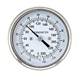 Professional Kitchen Oven BBQ Thermometer Bimetal Monitoring Cooking Thermometer 100-250℉ Temperature Range TS-BX40 White BBQ Supplies