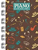 Piano Blank Music Sheet: Notebook Manuscript Paper with Hipster Themed Cover Design