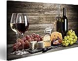XIAOMA Druck auf Leinwand Malerei Poster Wein und Käse