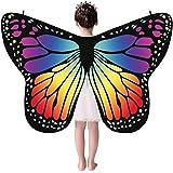 Auiyut Frauen Kinder Schmetterling Kostüm Butterfly Wings mit Schwarzem Kragen Schal Ladies...