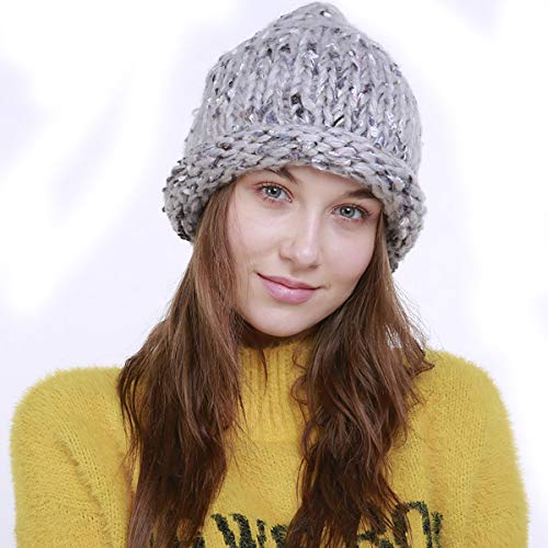 HHUMR Winter Warm Mädchen Junge Kreativität Mode Tide Cap, Faule Gestrickte Mützen...