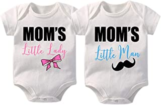 YSCULBUTOL Baby Bodysuits Unisex Matching Funny Twin Shirts Newborn Boys Girls Bacon and Egg Perfect Together