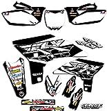 2000-2001 YZ 125/250 (2-Stroke), Fly Racing Black Complete kit, Senge Graphics, Compatible with Yamaha