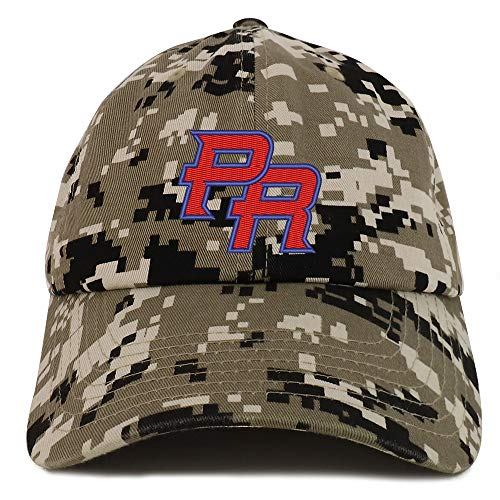 Trendy Apparel Shop Puerto Rico PR Embroidered Soft Crown 100% Brushed Cotton Cap