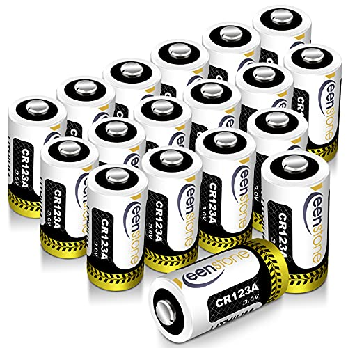 CR123A 3v Lithium Battery 18 Pack, Keenstone UL Certified...