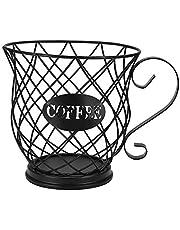 ONEVER Kaffeförvaringskorg, kaffekapselhållare design original svart, kaffebehållare, köksförvaring, hållare för kaffekapslar (40-60 st)