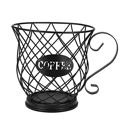 Weskjer Tazza porta capsule e organizer per caffè, organizer per capsule caffè, tazza porta capsule caffè, cestello porta caffè K Cup per Home Cafe Hotel