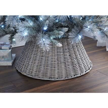 Crazyshop New Large Wicker Tree Skirt 65cm - Ash Christmas Tree Skirt