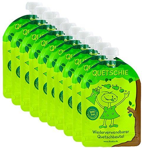 divata Pack de 10 botellas aplastables reutilizables, bolsitas para...