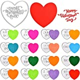 18 Pieces Valentine Conversation Hearts Cutting Dies Heart Shaped Cutting Dies 3D Heart Stencil Template Metal Cutting Stencils for Valentine's Day Making DIY Crafts