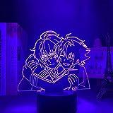 Seraph of the End ha conducido la luz nocturna para la decoración del dormitorio Nightlight regalo de cumpleaños Anime 3D lámpara Seraph of the End 16 colores con mando a distancia