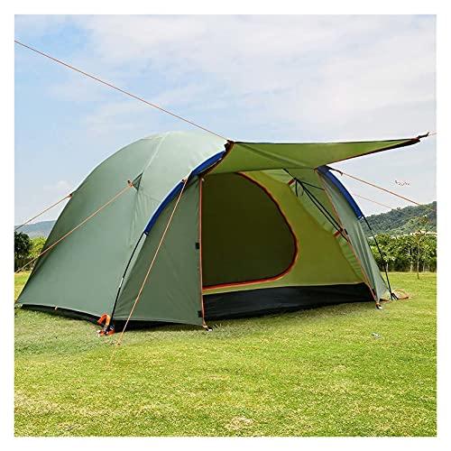 YSJJYQZ Tienda de campaña Ourdoor Camping Senderismo Tiendas turísticas Tienda de Pesca Tienda 4 Persona Impermeable A Prueba de Viento Anti-UV Beach Refugio de Caza (Color : Army Green)