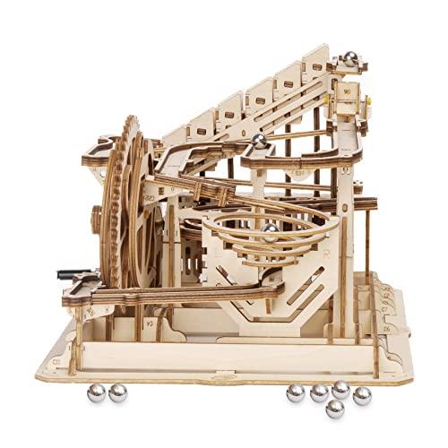 ROKR Puzzle de madera 3D Marble Run Kits de modelo de madera Puzzles mecánicos para adolescentes y adultos (Waterwheel Coaster)
