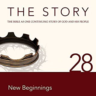 The Story Audio Bible - New International Version, NIV: Chapter 28 - New Beginnings                   By:                                                                                                                                 Zondervan Bibles (editor),                                                                                        Allison Moffett                               Narrated by:                                                                                                                                 Michael Blain-Rozgay                      Length: 38 mins     2 ratings     Overall 3.5