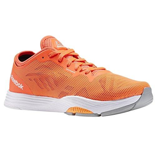 Reebok Cardio Ultra 2.0, Zapatillas de Deporte para Mujer, Naranja/Rojo/Blanco/Negro (Elctrc PCH/ATMC Red/Coal/Run Wht), 42.5 EU