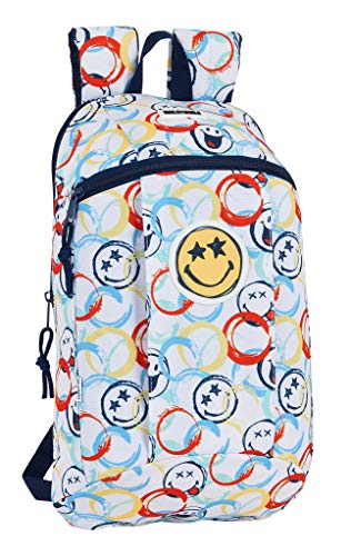 51enJalXb L - Mini Mochila Safta de Uso Diario de Smiley World Art, 220x100x390mm