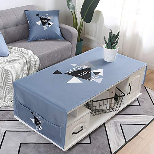 YOUYUANF Mantel Mantel Rectangular Mesa de Comedor Mantel Rectangular antiincrustante Mantel Lavable decoración Moderna de Mesa de tela50x150 cm