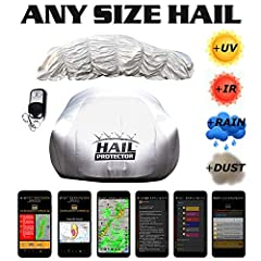 """Prepare for Spring Today. """"America's Best Car Cover Stops Any Size Hail too"""" Six Sizes with FREE SHIPPING. Select Size in """"pull down"""" Above. Protecting Thousands Worldwide from ANY SIZE HAIL. HAIL STORMS occur while you are at WORK, at HOME while you..."""