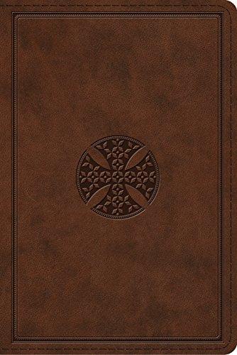 ESV Study Bible, Personal Size (TruTone, Brown, Mosaic Cross Design)