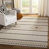 Safavieh Dhurries Collection DHU351A Alfombra de lana natural tejida a mano (3 x 5 pies)