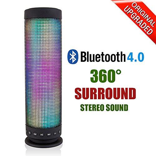 Cassa Bluetooth 4.0 Wireless Speaker Portatile del LED Altoparlanti Colorati Visiva Modalità Presentazione Supporta Microfono TF Altoparlante Integrato per Apple iOS e Dispositivi Android-Milool