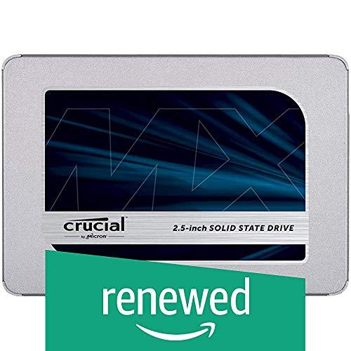 Crucial MX500 CT250MX500SSD1 SSD Intern, 250 GB, 3D NAND, SATA, 2,5 Zoll (Zertifiziert)