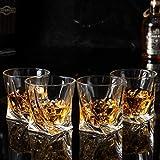KANARS Whiskey Gläser Set, Bleifrei Kristallgläser, Whisky Glas, Schöne Geschenk Box, 4-teiliges, 300ml, Hochwertig - 6