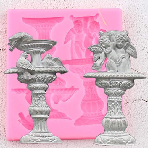 GMTEXTILES Fuentes Antiguas 3D Borde Moldes de Silicona Angel Birds Herramientas de decoración de Pasteles DIY Cupcake Hornear Moldes de Chocolate Gumpaste