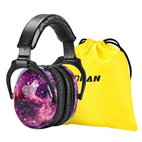 [Verbesserte] ZOHAN 030 Kinder Gehörschutz, Kind Lärmschutz Kopfhörer Verstellbare Faltbare Ohrenschützer für Schule Konzert Festival mit SNR 27dB Hörschutz, Sternenhimmel MEHRWEG