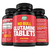 Glutamine Tablets - Pure, Non GMO, with Natural Ingredients, Soy and Caffeine Free - 120 L-Glutamine Pills at 1000mg - Amino Acid Supplement - by Raw Barrel