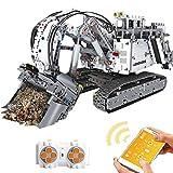 Tosbess Technic Escavatore Liebherr Set di Costruzione, 2,4Ghz RC Escavatore con Motore e Telecomando, 4062Pezzi Blocchetti di Costruzione Compatibile con Lego Technic