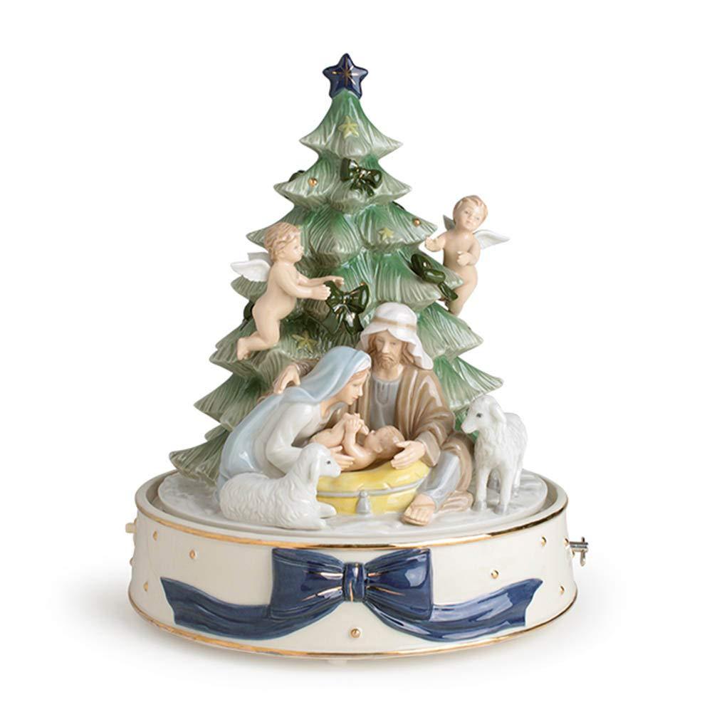 Royal Class - Caja de música con forma de árbol de Navidad (porcelana, tamaño 25 x 29 cm, bombonera regalo para: Amazon.es: Hogar