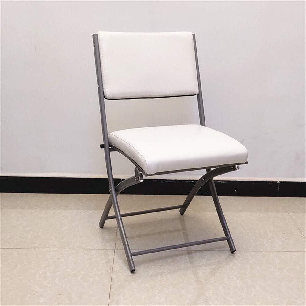 Pangpang Articles Ménagers Chair Chaise Pliante avec Accoudoir Siège Rembourré Et Dossier Bureau D'ordinateur (1 Chaise, Plusieurs Couleurs) (Color : Wine Red+handrail) White