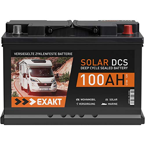 Solarbatterie 100Ah 12V EXAKT DCS Wohnmobil Versorgung Boot Solar Batterie Größenwahl (100AH 12V)