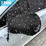 Tvird Side Mirror Cover, Snow and Ice Mirror Cover for Car 2 Packs, Frost- Resistant Waterproof Anti Bird Side View Mirror Cover,Universal Size Fit for Cars SUV Trucks.