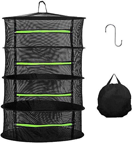 万能干し網 ハンギングドライネット物干しネット 4段 通気性 昆虫を防ぐ 折り畳み式 干し網 万能干しかご 乾物ネット 収納用品