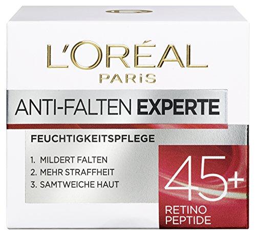 L\'Oréal Paris Gesichtscreme Anti-Falten Experte Tagescreme 45+, intensive Anti-Age Gesichtscreme mit Retino-Peptiden, für eine straffere und weichere Haut, 50ml