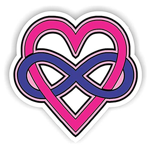 Set of 3 - Polyamory - Full Color Cad Cut - Sticker Graphic - Auto, Wall, Laptop, Cell, Truck Sticker for Windows, Cars, Trucks