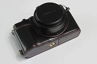 Panasonic Lumix パナソニック PEN LX100M2 LX100 II カメラケース カメラカバー カメラバッグ カメラホルダー、【KOOWL】ハンドメイドのPUレザーカメラベース保護カバー、付属品:ハンドストラップ、スタイリッシュ、コンパクト、防水、防振 (ブラック)
