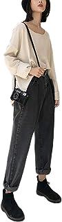 Gergeousデニムパンツ レディース ゆったり ジーンズ ファッション ワイドパンツ カジュアル ロングパンツ おしゃれ ストレートパンツ 着痩せ 原宿系 春