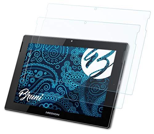 Bruni Schutzfolie kompatibel mit Medion LIFETAB P10341 MD99233 Folie, glasklare Bildschirmschutzfolie (2X)