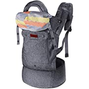 Lictin Baby Carrier for Newborn - Baby Carriers Front and Back, Breathable Adjustable Ergonomic Baby Backpack Carrier for Infant up to 33 lbs/ 15 kg
