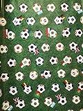 LaVelaHOME Tischdecke Meterware h140 grün Fußball Bälle
