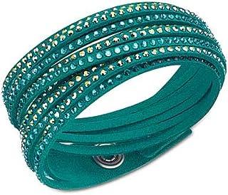 Swarovski Slake Wrap Bracelet, Dark Green
