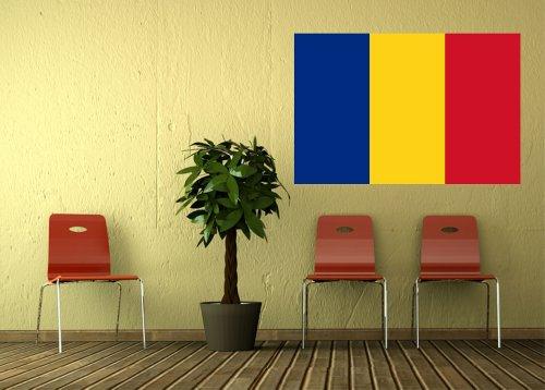 Kiwistar Wandtattoo Sticker Fahne Flagge Aufkleber Rumänien 120 x 80cm