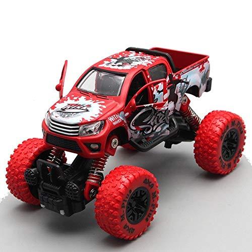 ZZYJYALG Alloy Tirare Indietro Graffiti Ammortizzatore dell'automobile del Fumetto Grandi Piedi Auto Giocattolo Modello di Simulazione dei Bambini dell'automobile for 3-12 Anni Giocattoli
