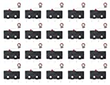 WMYCONGCONG 20 PCS AC 125V 5A SPDT 3 Pin Momentary Hinge Roller Lever Micro Limit Mini Switch