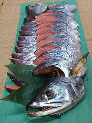 越後 村上 塩引鮭 中 1本分を三枚おろし・切り身 (仕上り1.8kg前後)