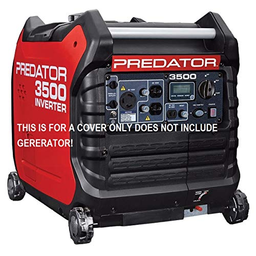 GCD Fits The Predator 3500 watt Generator Cover Custom Fit (Black) in Stock